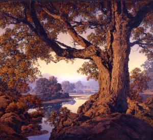 Maxfield Parrish / Riverbank Autumn