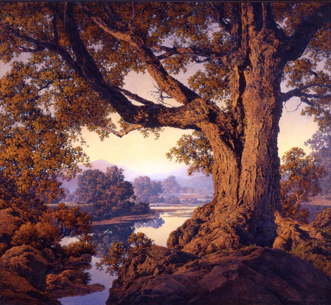 Maxfield Parrish / Riverbank Autumn