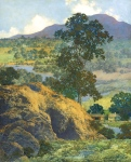 Maxfield Parrish / New Hampshire Landscape