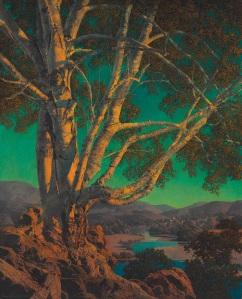 Old White Birch (1937) aka Evening Shadows
